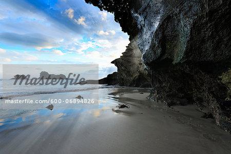 Beach at Dawn, Cathedral Cove, Hahei, Waikato, North Island, New Zealand