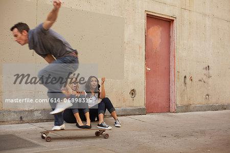 Man showing off skating moves