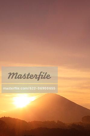 Mount Fuji at sunset, Shizuoka Prefecture