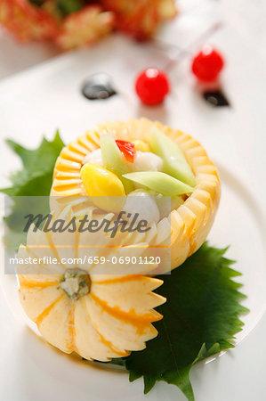 Lime fruit fried vegetables