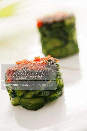 Cucumber caviar