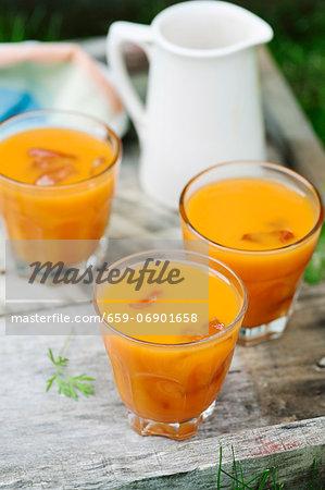 Apple, orange and carrot juice