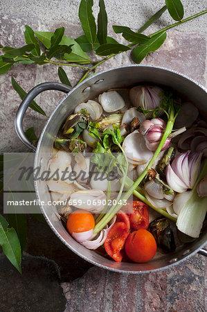 Pot-roasted vegetables