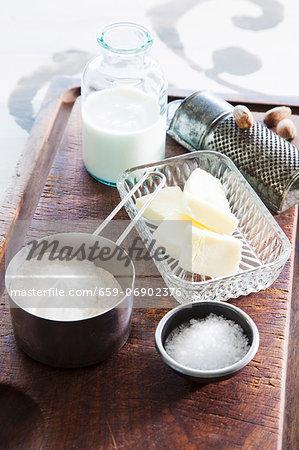 Various baking ingredients