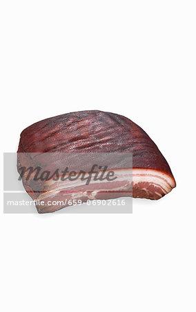 Hot smoked belly pork