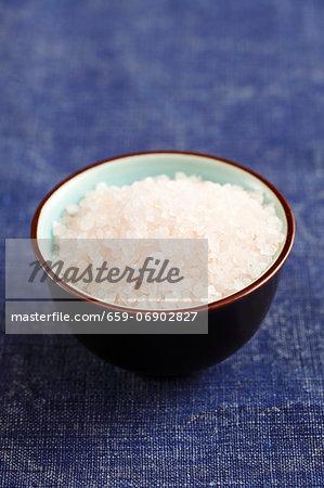 Himalayan salt in a small bowl