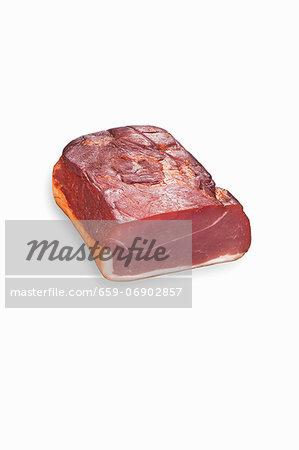 Raw smoked back bacon