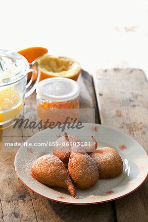 Doughnuts filled with orange marmalade