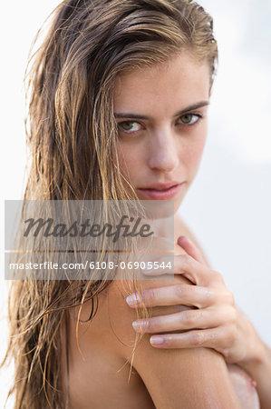 Portrait of a beautiful woman posing