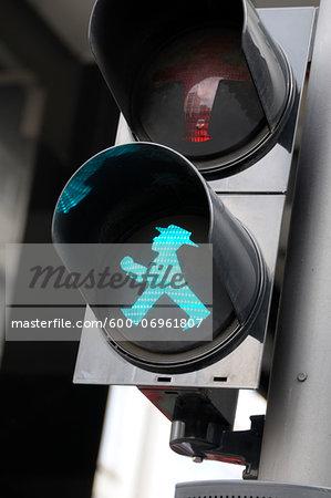 Traffic light, walk sign Ampelmann, Berlin, Germany