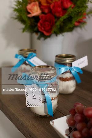 Cookie Mix in Gift Jars, Studio Shot