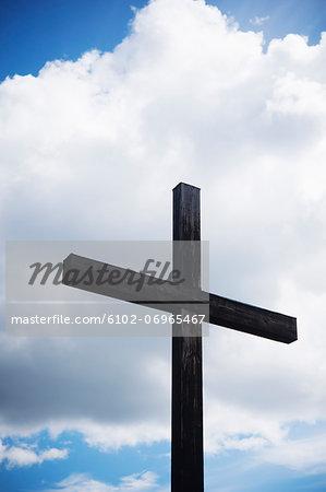Low angle view of cross