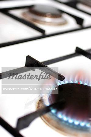 Studio shot of gas burner