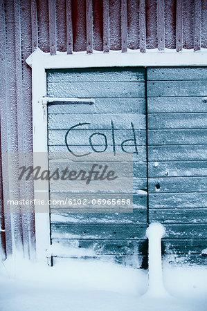Frosted barn door