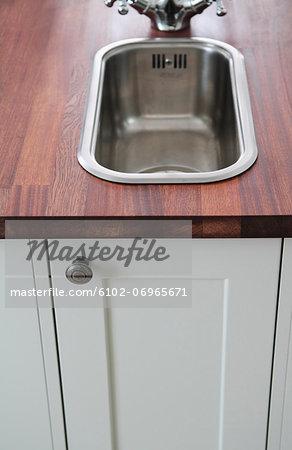 Sink in kitchen island