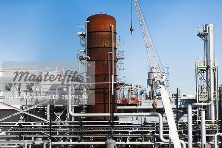Storage tanks of oil refinery