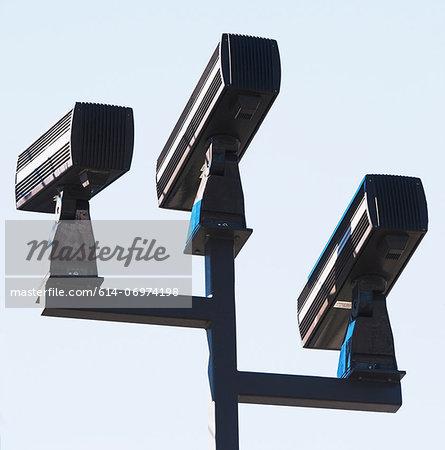 Three surveillance cameras