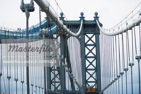 Architectural detail Manhattan Bridge, New York, USA