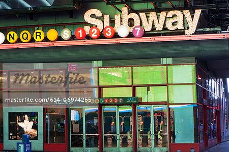 Times Square subway station, New York City, USA