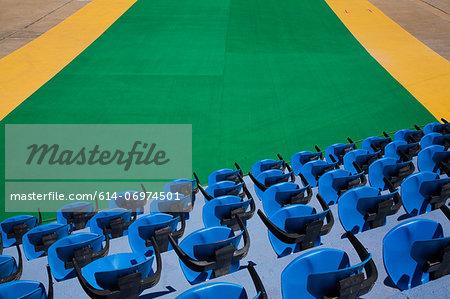 Empty sports stadium seats
