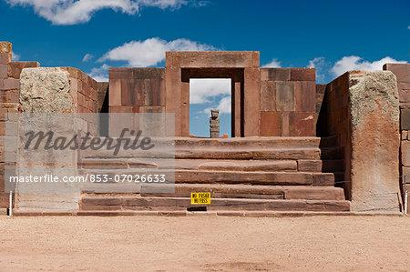 Kalasasaya Tempel, Tiwanacu, Tiahuanaco, La Paz, Bolivia, South America