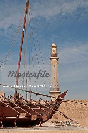 Historical ship in Fort Al-Fahidi, Dubai