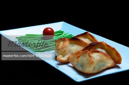 Sambusak (stuffed pastry parcels, North Africa)