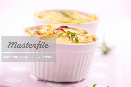 Potato gratin with rocket