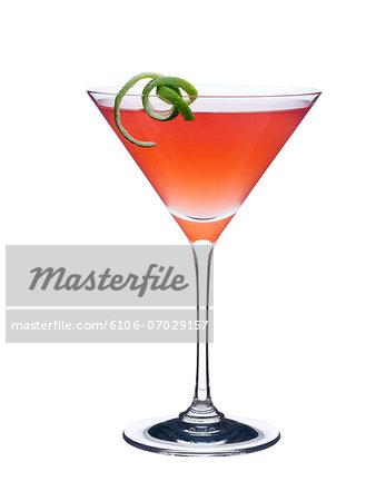 Orange Martini in Glass