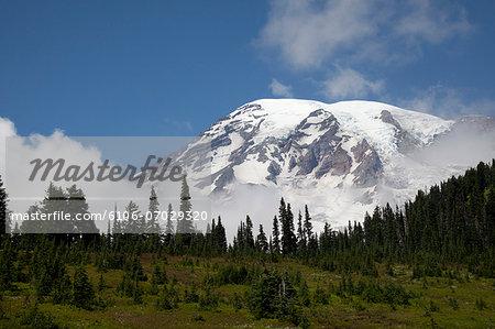 Mount Rainer clouded base