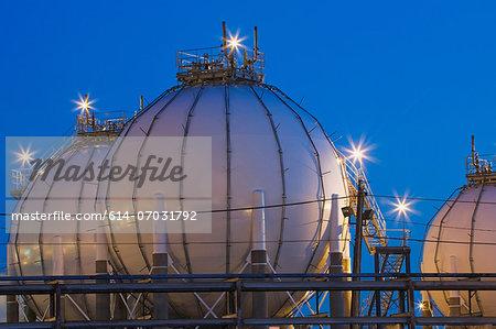 Refinery storage tanks, Montreal, Quebec, Canada