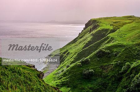 Ocean coastline in Scottish highlands, Scotland, United Kingdom