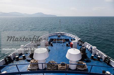 View from ferry toward Elba Island, Italy
