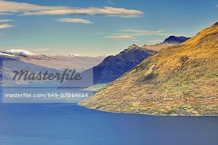 View across Lake Wakatipu, Queenstown, South Island, New Zealand