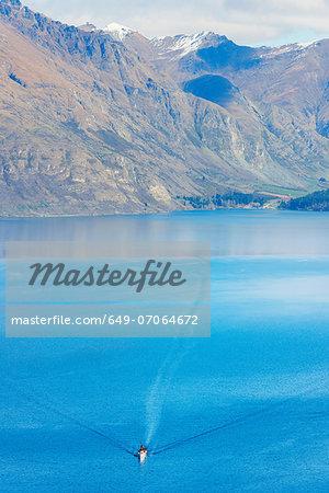Historic steamer on Lake Wakatipu, Queenstown, South Island, New Zealand