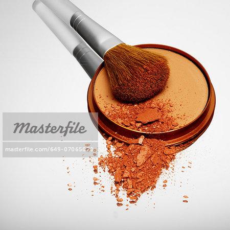 Blusher with make up brush