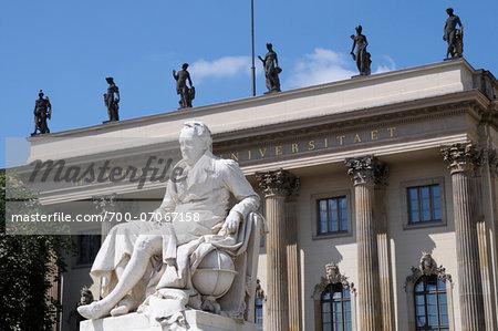 Statue of Alexander von Humboldtuniversity Humboldt, Berlin, Germany