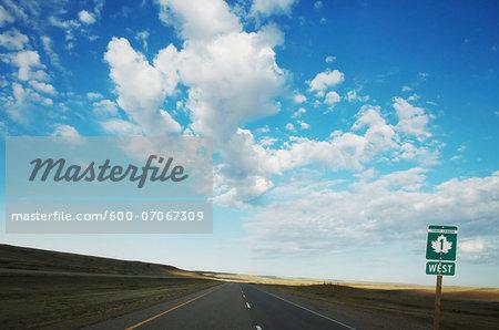 Trans-Canada Highway looking West