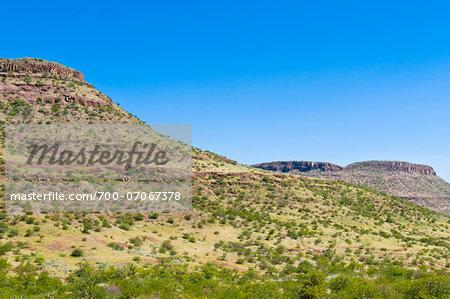 Scenic view of mountains and desert landscape, Damaraland, Kunene Region, Namibia, Africa