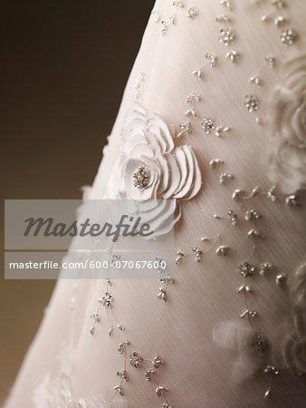 Detail of Wedding Dress, Studio Shot