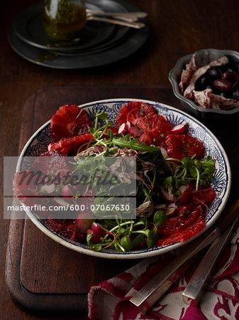 Blood Orange and Arugula Salad, Studio Shot