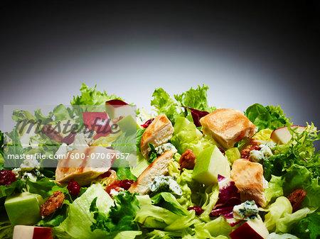 Close-up of Chicken and Apple Salad, Studio Shot