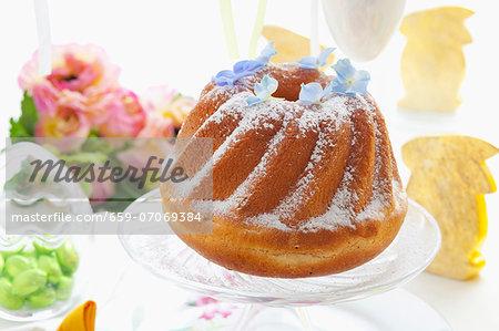 Babka (Easter cake, Poland) on an Easter table