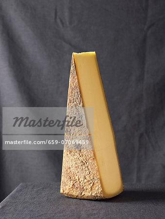 A wedge of Vorarlberger Bergkäse cheese