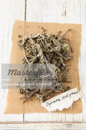 Dried artichoke (Cynara scolymus)