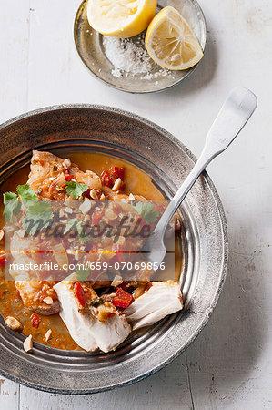 Samke harra (spicy pan-fried fish dish, Lebanon)