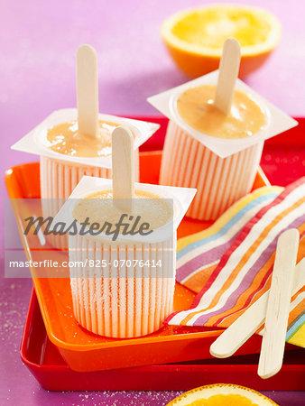 Orange and cinnamon ice cream bars