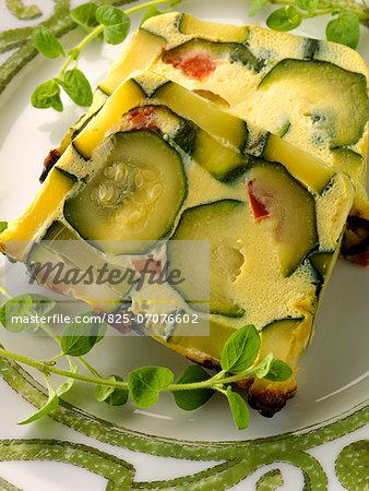Zucchini terrine
