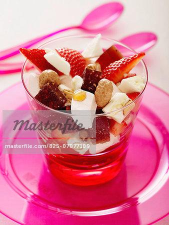 Tutti frutti and Petit Billy dessert