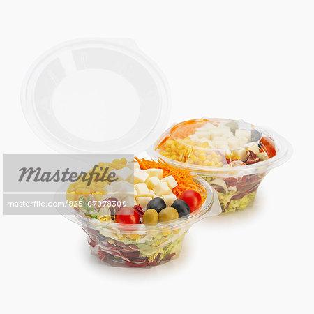 Take-away mixed cheese salads